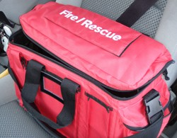 Fire Officer Vehicle Duty Bag - RED
