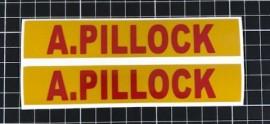 Helmet Name ID Stickers